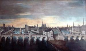 Pariski Novi most iz 1607, u pozadini mostovi sa nadgradnjama