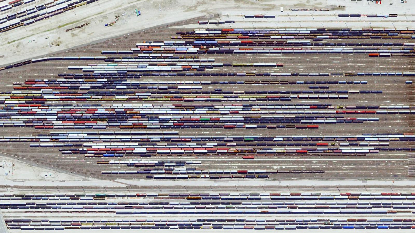 Ranžirni koloseci snimljeni iz vazduha