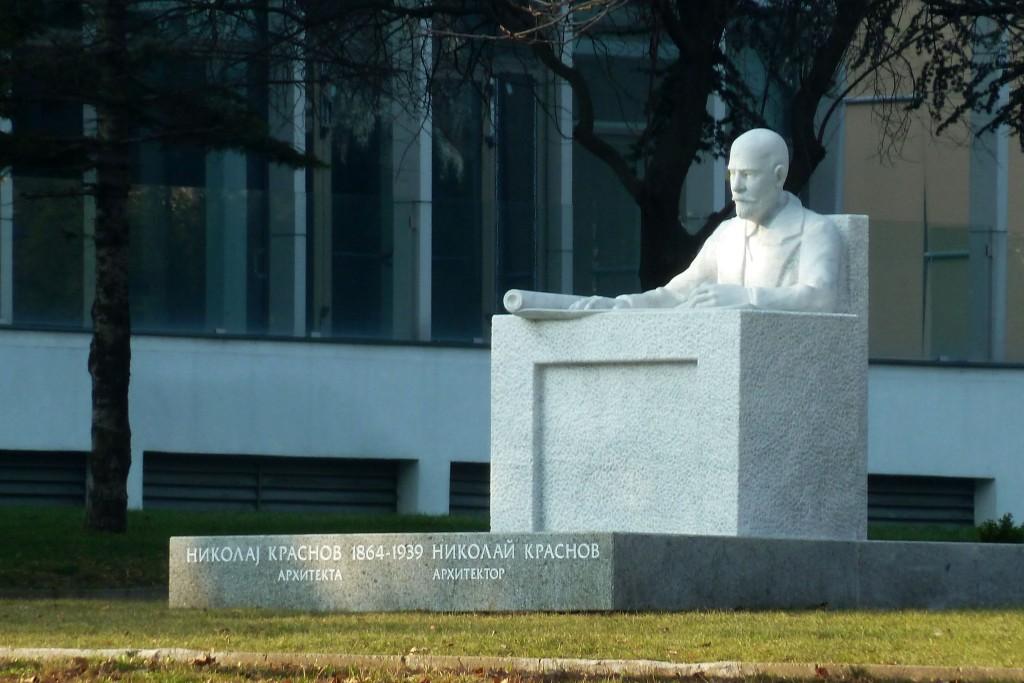 Споменик Николају Краснову на Ташмајдану, аутор Небојша Савовић (фото Б.Ковачевић)